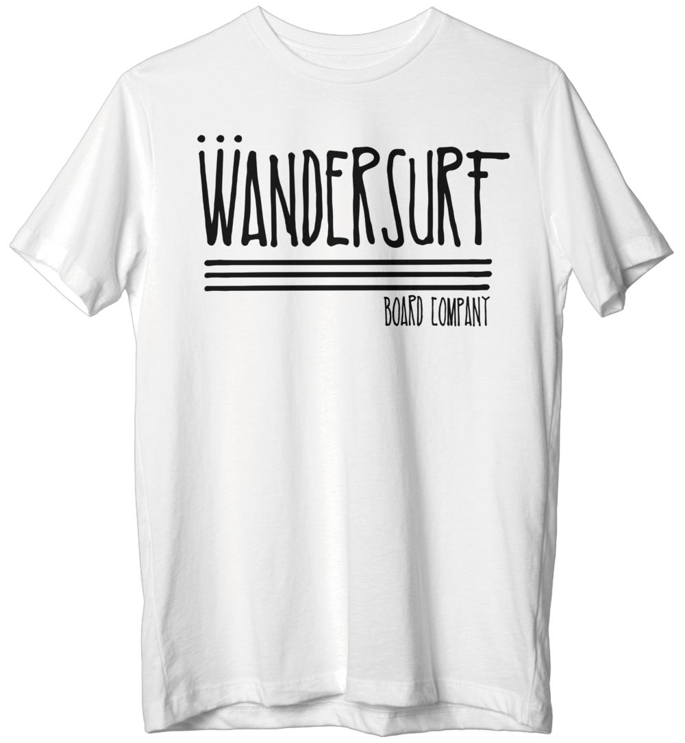 Classic White T-Shirt w/ Black Logo