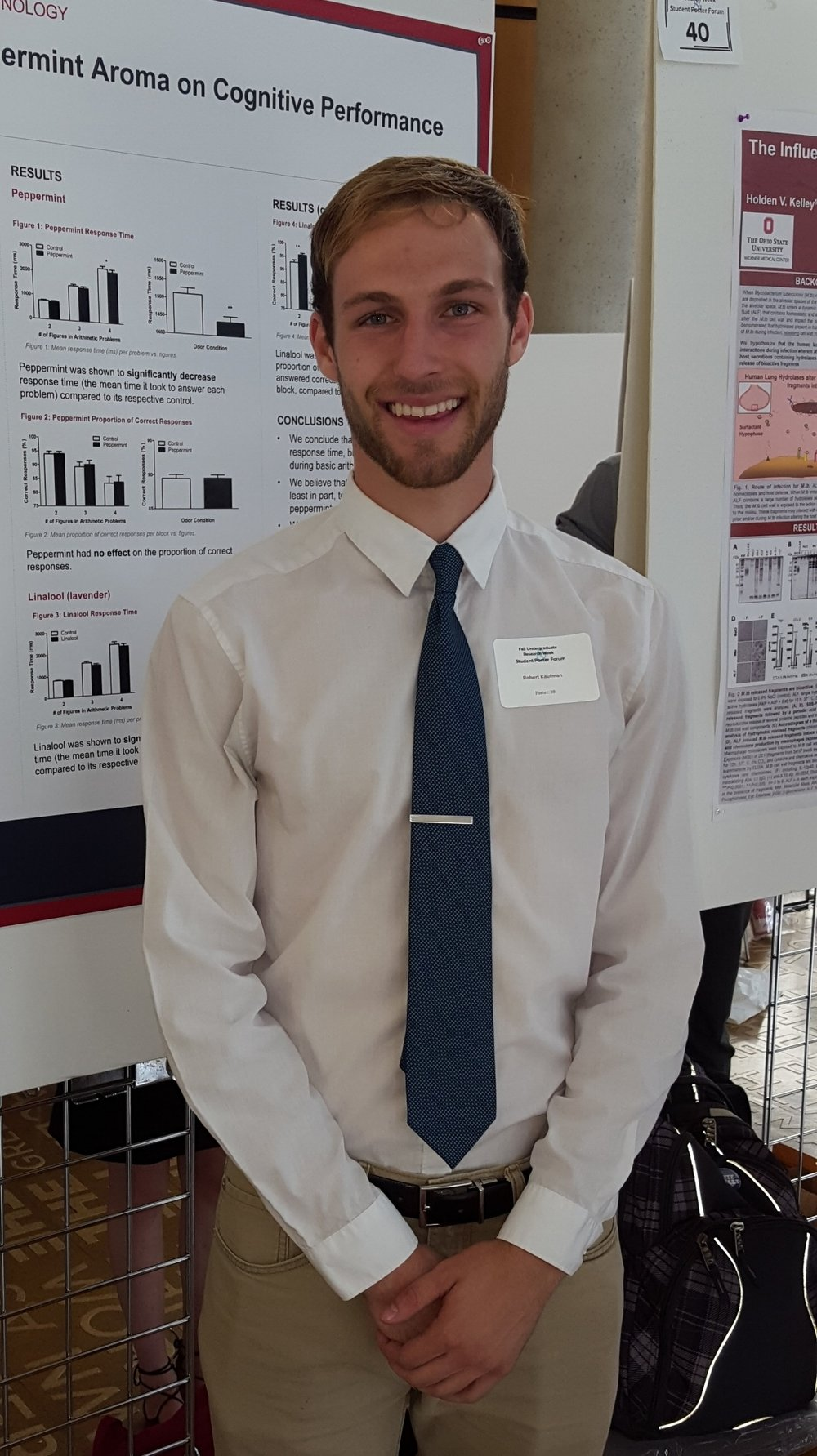 Presenting a poster at a conference in Columbus,  Sept. 2016.