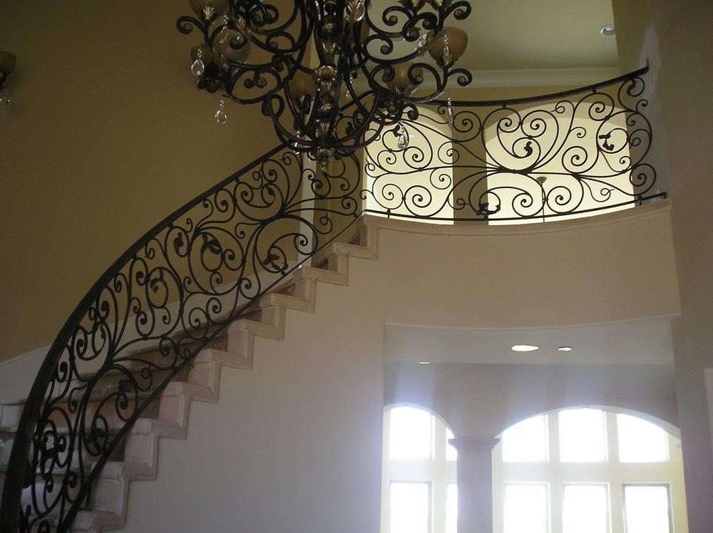 Inspiring Metal Railing Stairs Plus Wrought Iron Railings