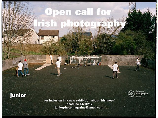 Open call for new Irish photography! We have a new exhibition coming up in The Gallery of Photography's new exhibition space and we want to see your work! Send photos from ongoing or mostly unseen bodies of work to juniorphotomagazine@gmail.com! Go go go! Deadline is October 14th!