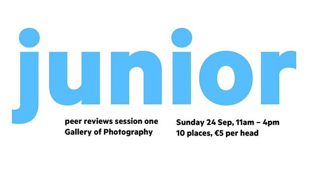 Alongside our exhibition in the Gallery of Photography, we will be holding a number of community focused events there in the coming months. The first is a peer review, which will be held on Sunday the 24th of September. Bring work from an ongoing or nearly finished project and we will discuss and critique each other. As this is our first of such events we have a discounted price of €5. There are only five places left so be sure to grab a ticket! Link in bio.