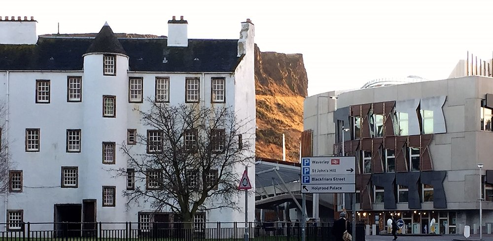 Holyrood, Arthur's Seat and Parliament are a couple of minutes down the road