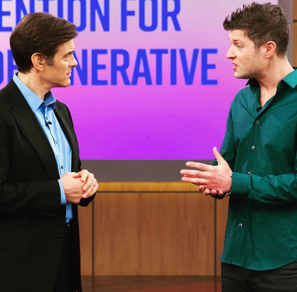 One of Max's appearances on The Dr. Oz Show, 2016