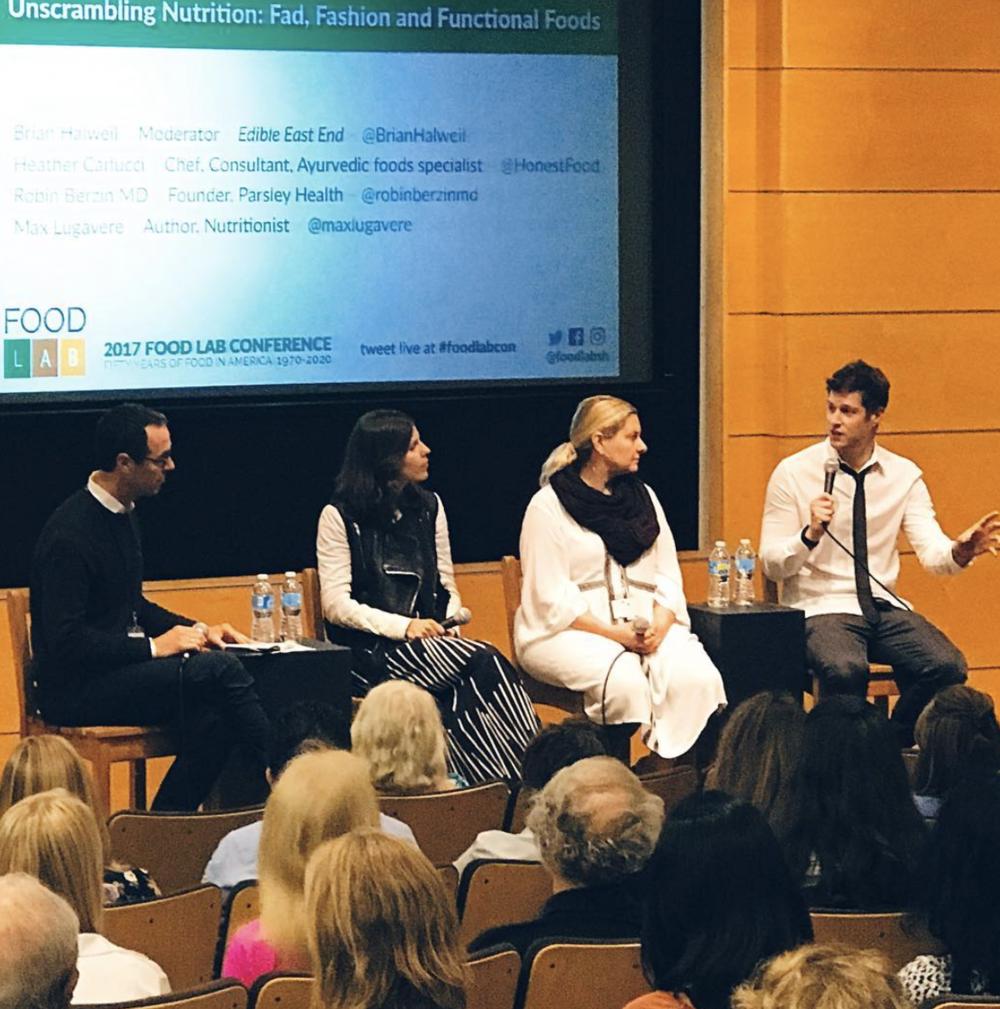 Speaking at Stonybrook University's Food Lab Conference.