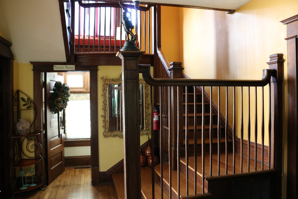 stairs inside inn