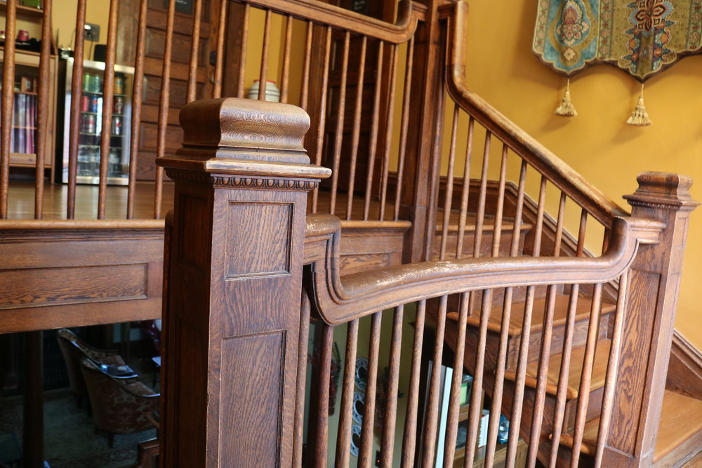 wooden staircase