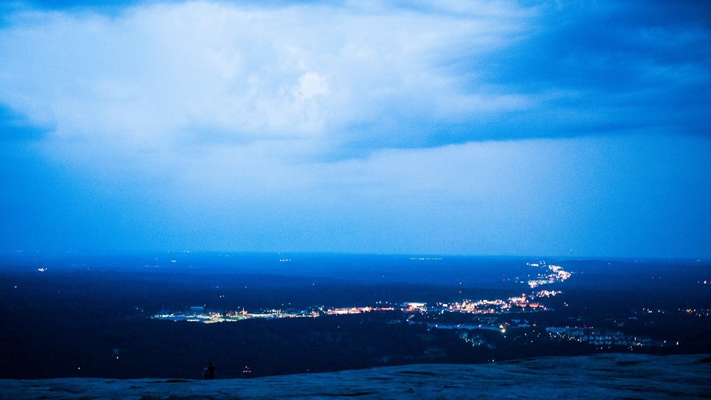 Can't wait for another hike up Stone Mountain when it's not about to start downpouring like the last time we were there!