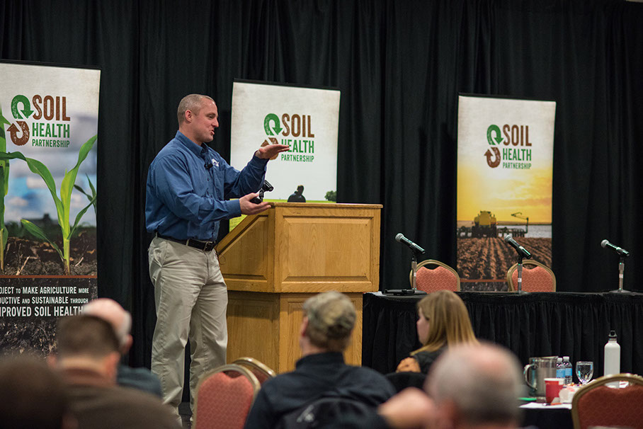 Dave Muth of AgSolver presenting at the Soil Health Summit in Des Moines, Iowa, Jan. 19 and 20.