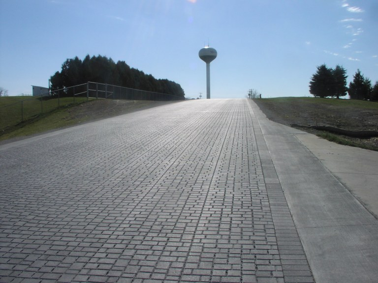 Permeable roadway completed this fall. Photo contributed by Eric Palas.