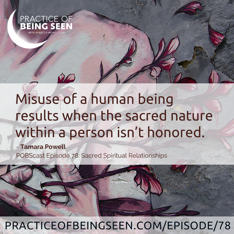 """""""Misuse of a human being results when the sacred nature within a person isn't honored."""" - Tamara Powell"""