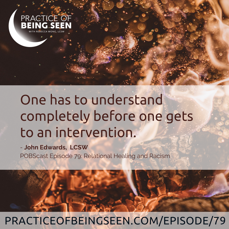 """One has to understand completely before one gets to an intervention."" - John Edwards"