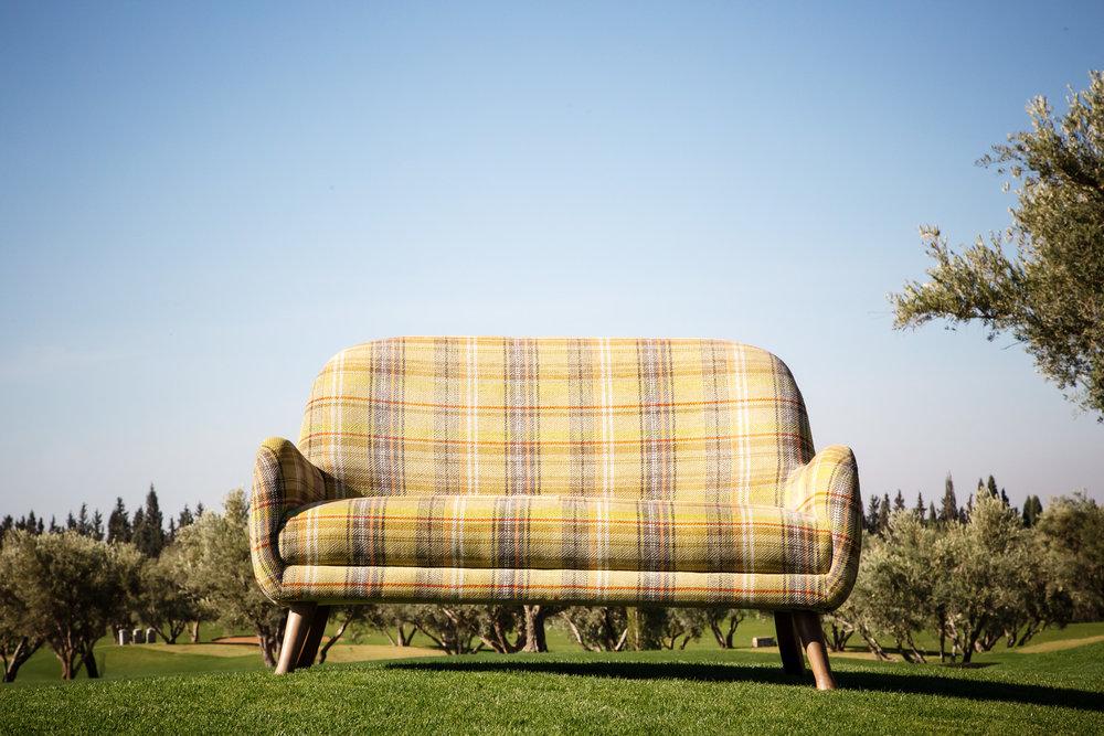 Canapé-fauteuil XL style 1950