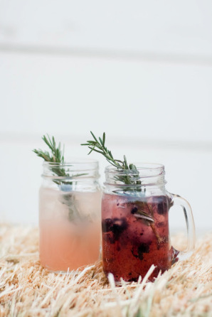 mason jar mug cocktail rosemary