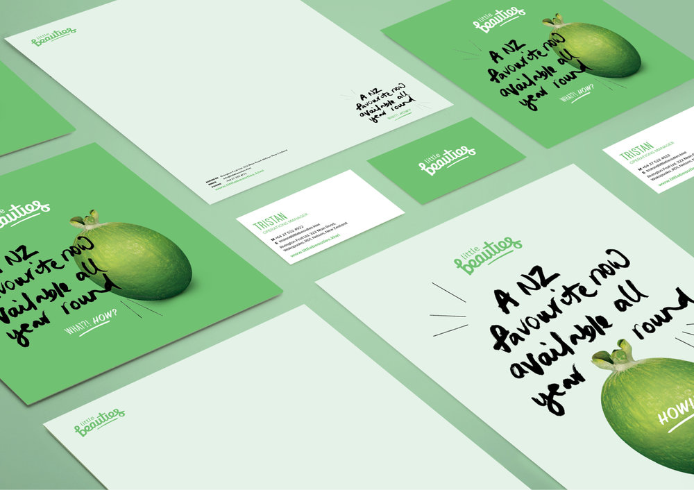 Branding graphic design packaging website Little Beauties
