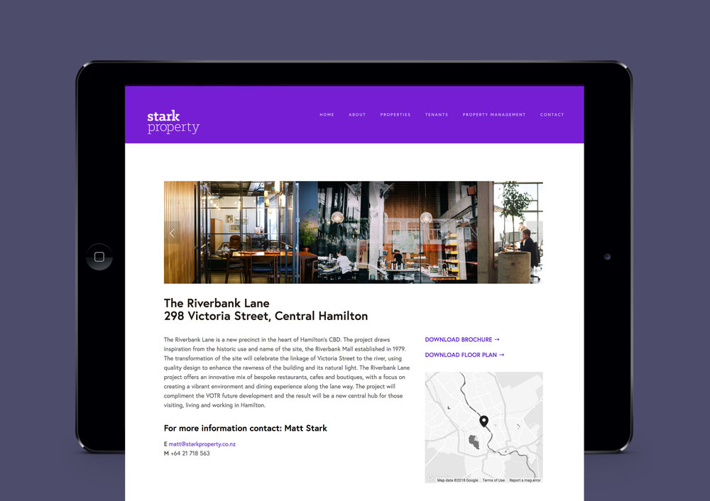 Website design Stark Property - Designwell