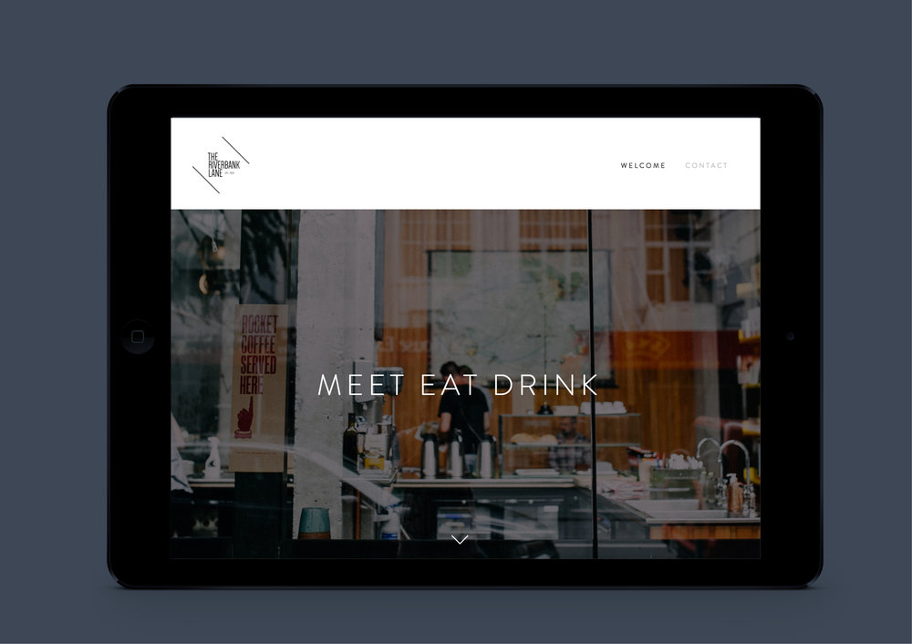 Website design The Riverbank Lane - Designwell