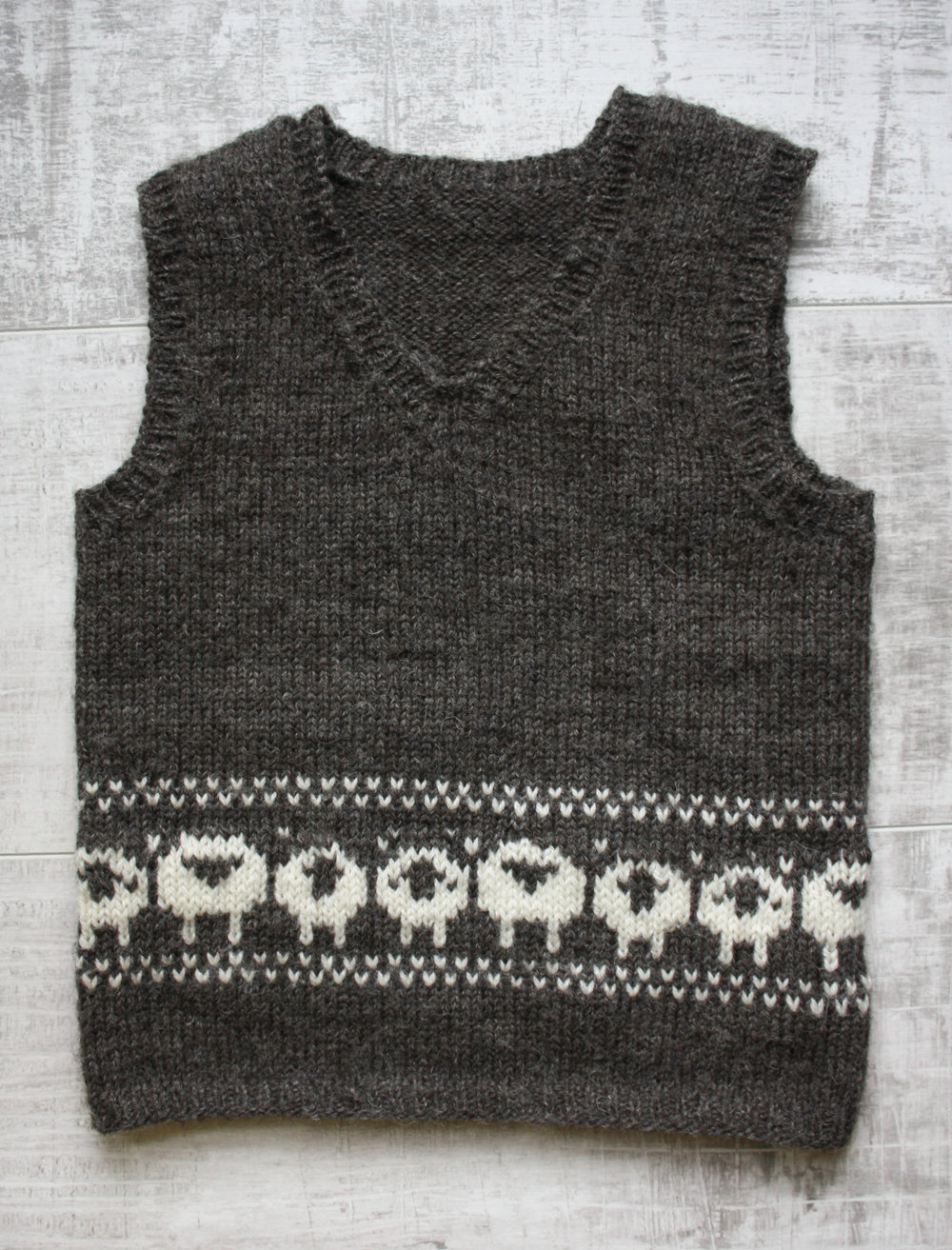 wee sheep vest in Jamieson & smith