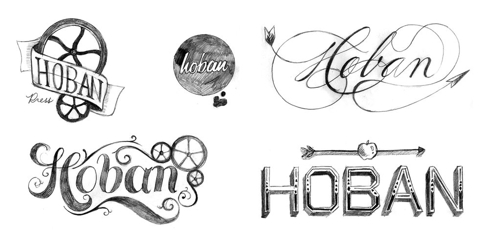 Hoban Press Logo Sketches