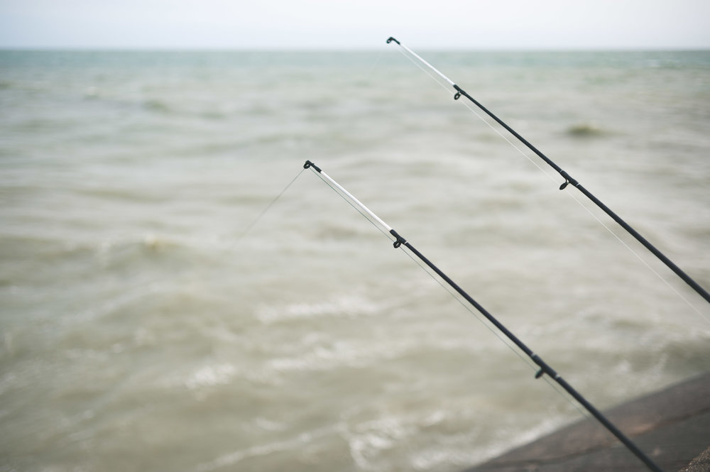 rod-braid-line-sea-water