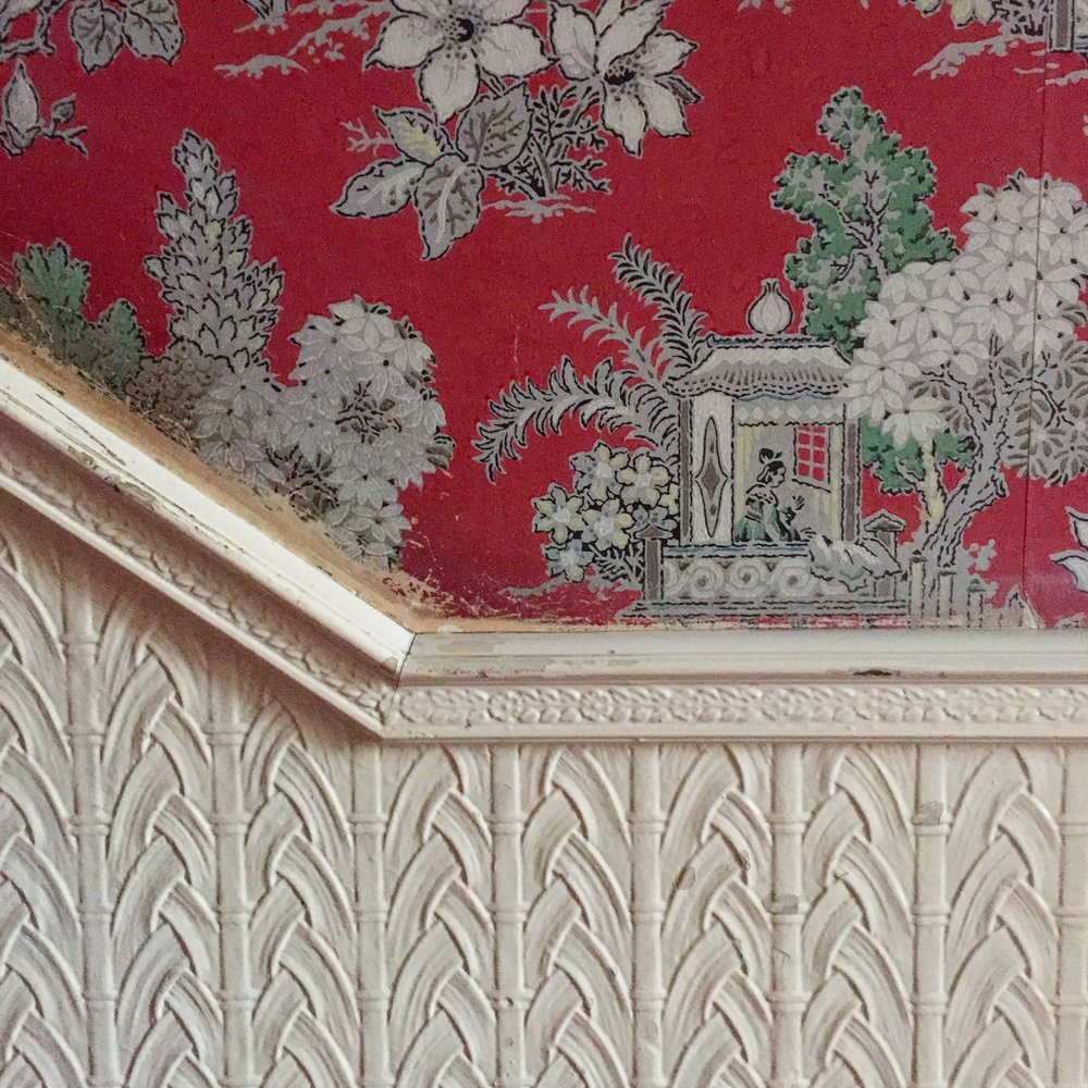 Panelling and wallpaper