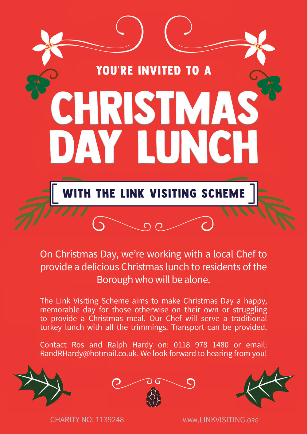 christmas day lunch the link visiting scheme