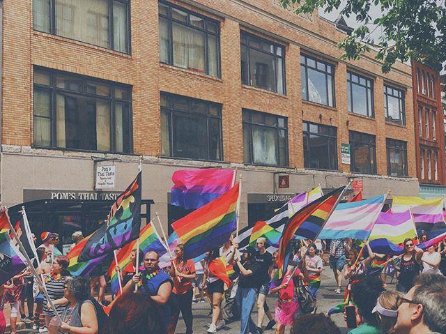 PRIDE 18. // #pride #portlandpride #portlandme #maine #instagay #queer #flag