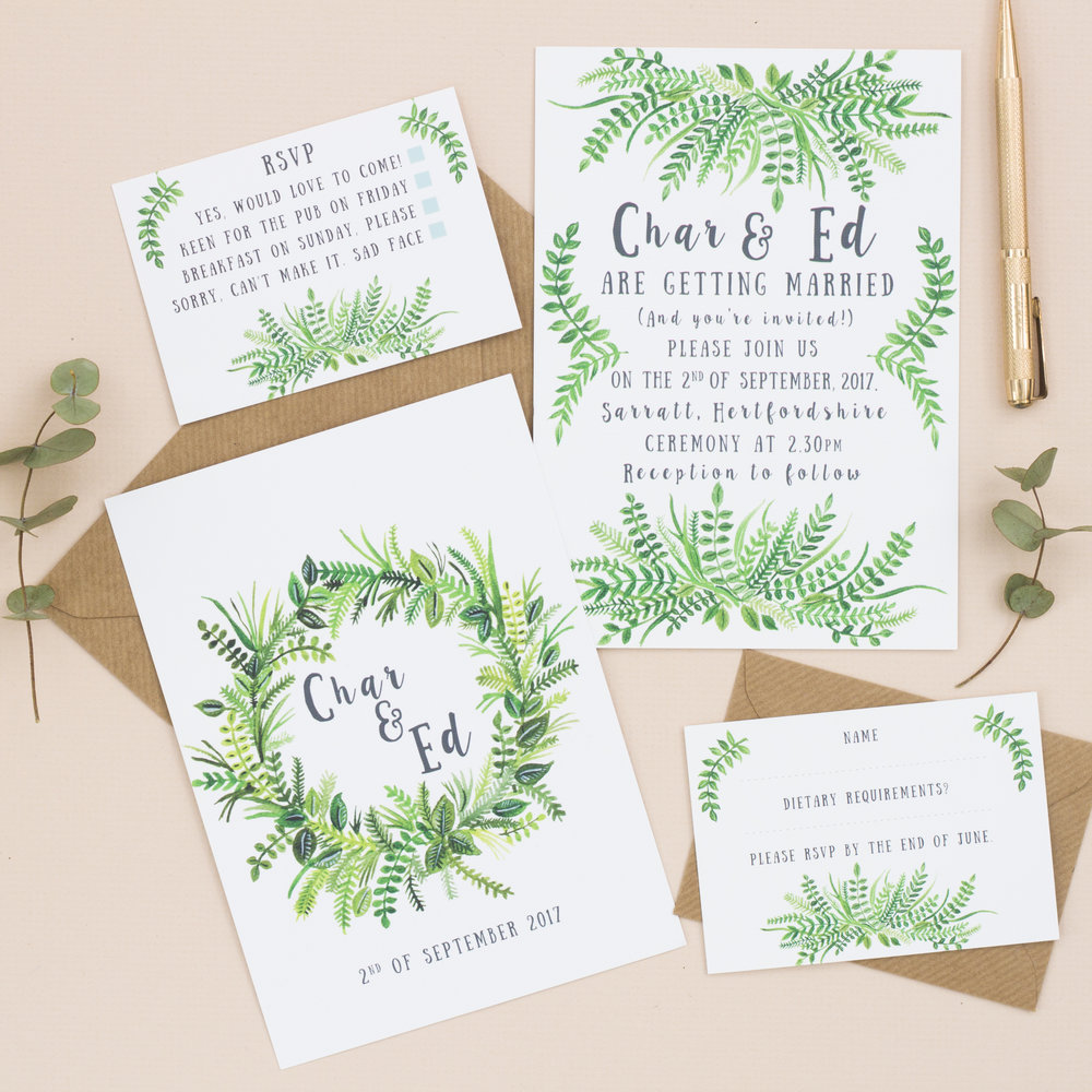 I can design a range of stationery items for your needs -