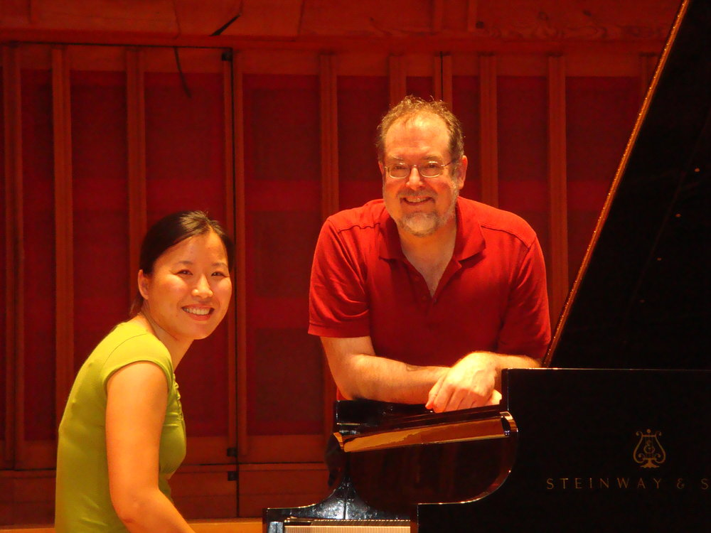 with Garrick Ohlsson during Beethoven Sonata coaching