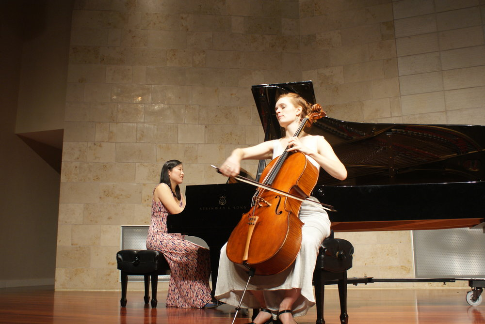 performance with Kathryn Bates, cellist.