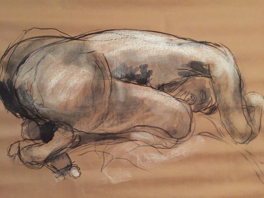 Figure Study: woman kneeling