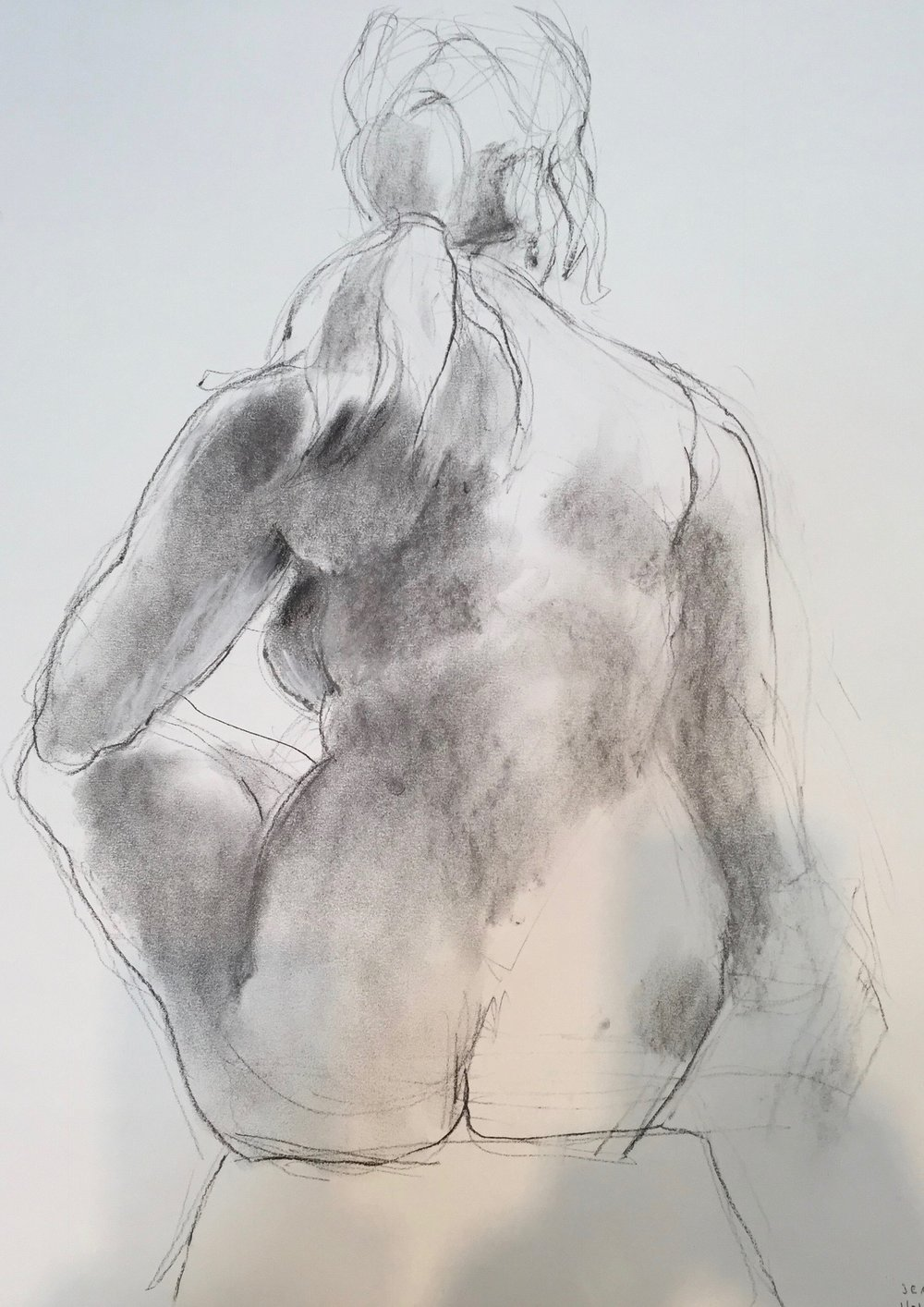 Figure Study: ponytailed woman