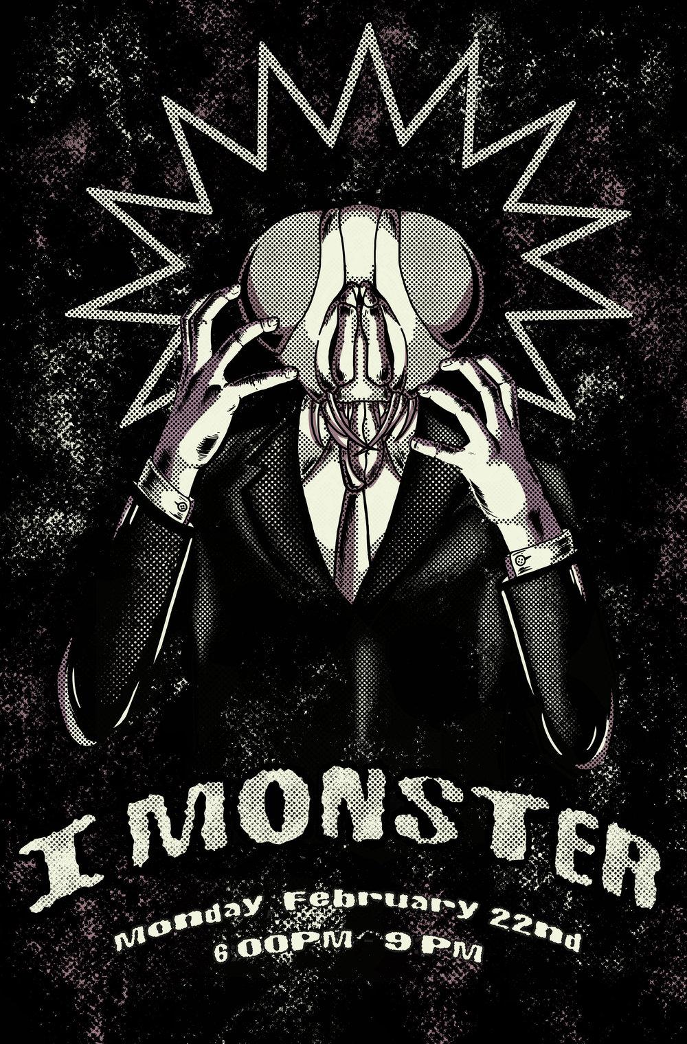 Screenprinting — I Monster Gig Poster