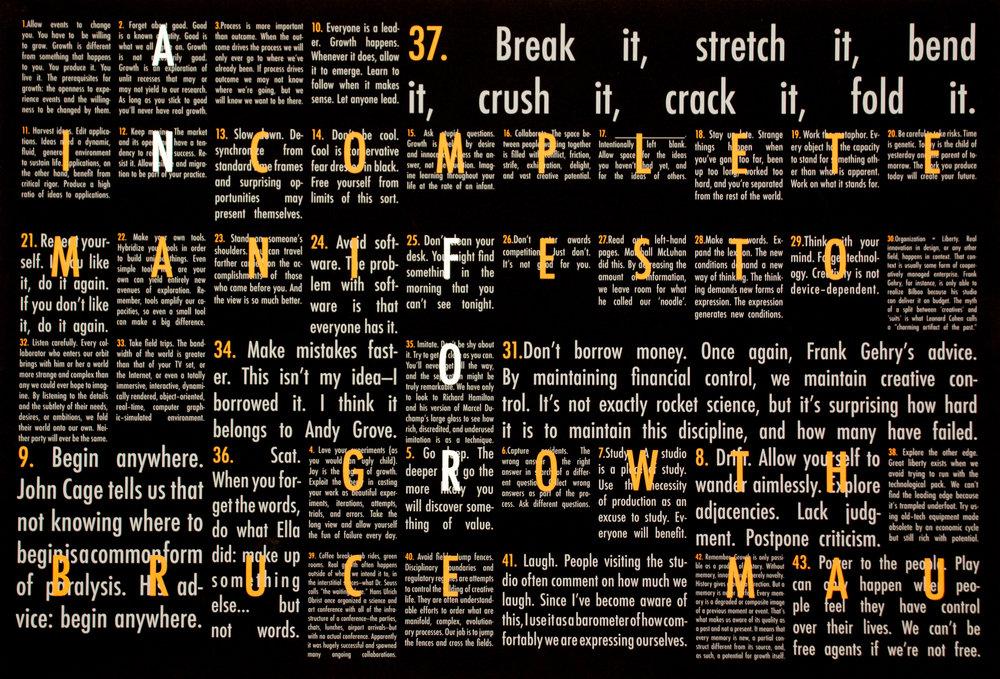 Graphic Design 01 — Bruce Mau Grid Poster