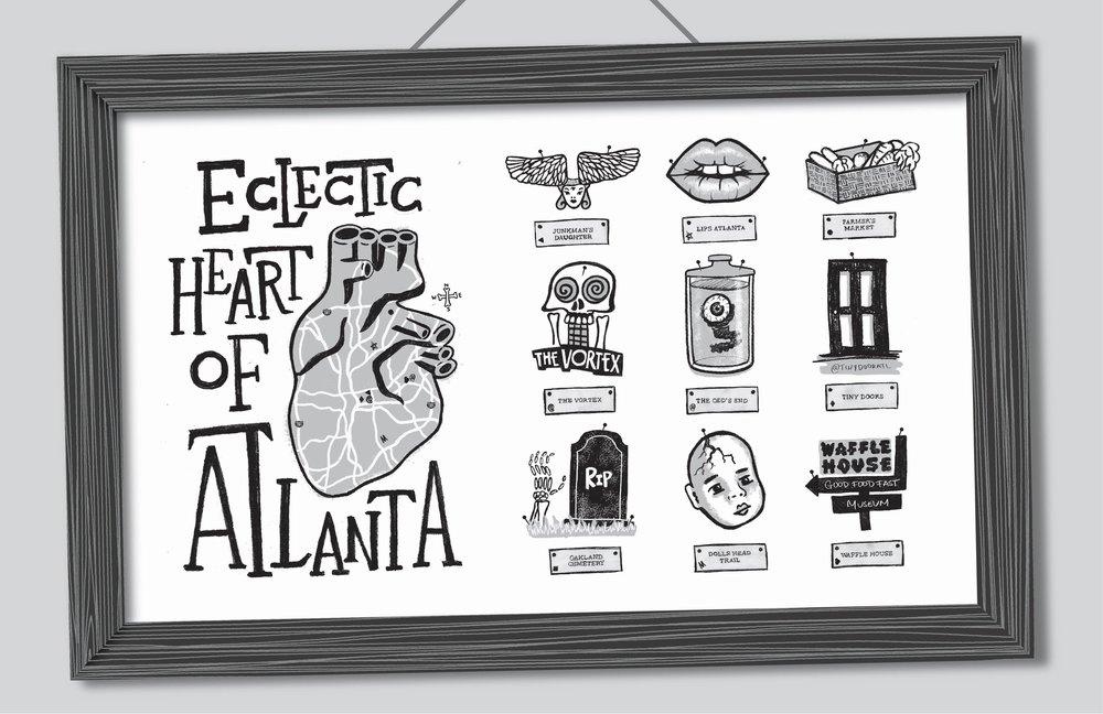 Graphic Design 03 — Heart of Atlanta Illustrated Map