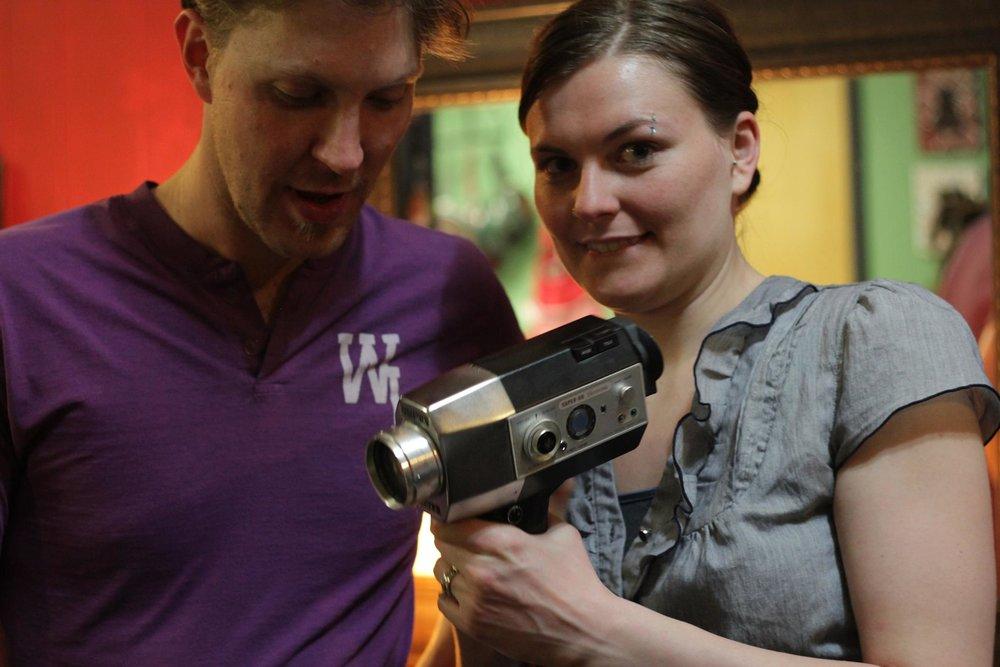 Ryan Geoffrey Walker (director) with Kate E. Walker (assistant director) in 2013.