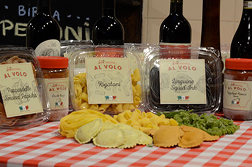 Al Volo fresh pasta and sauce for retail sale