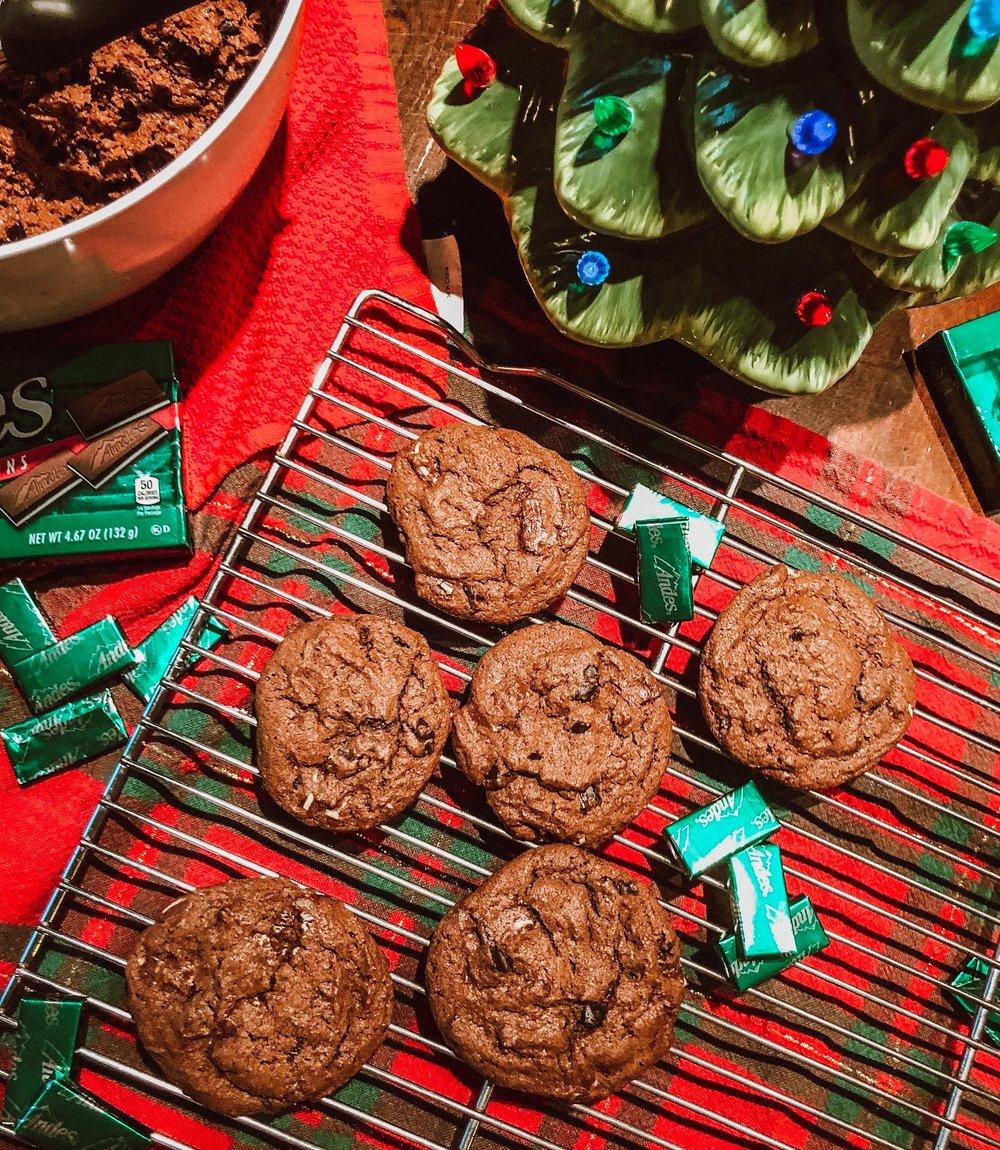 Triple+Chocolate+Mint+Cookies