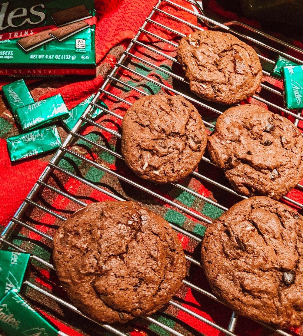 Triple Chocolate Mint Cookies christmas cookies