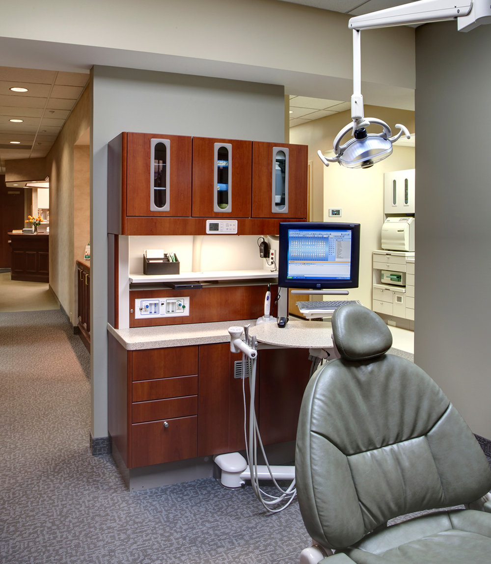 Edina Dental Care's state-of-the-art treatment rooms offer patients a soothing and comfortable treatment experience.