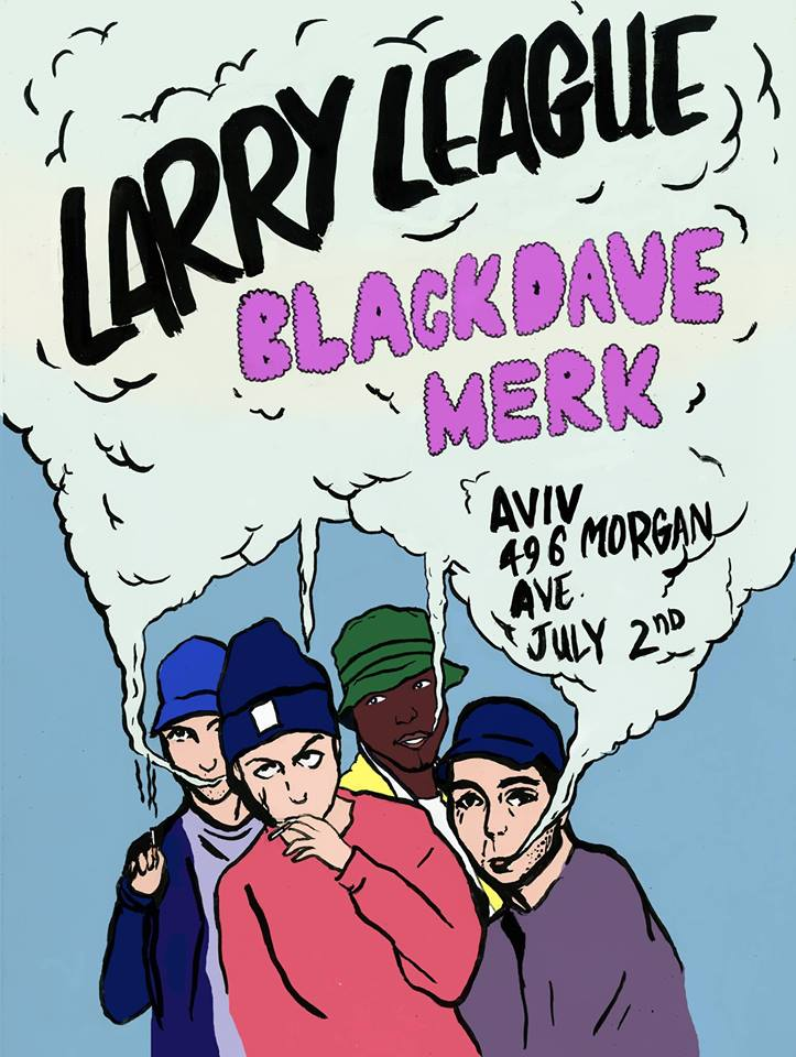 Commissioned flyer from Larry League's debut New York show