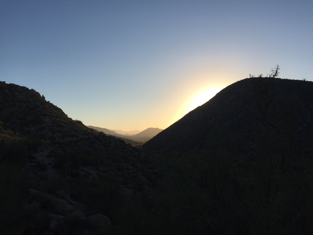 Gila River sunrise