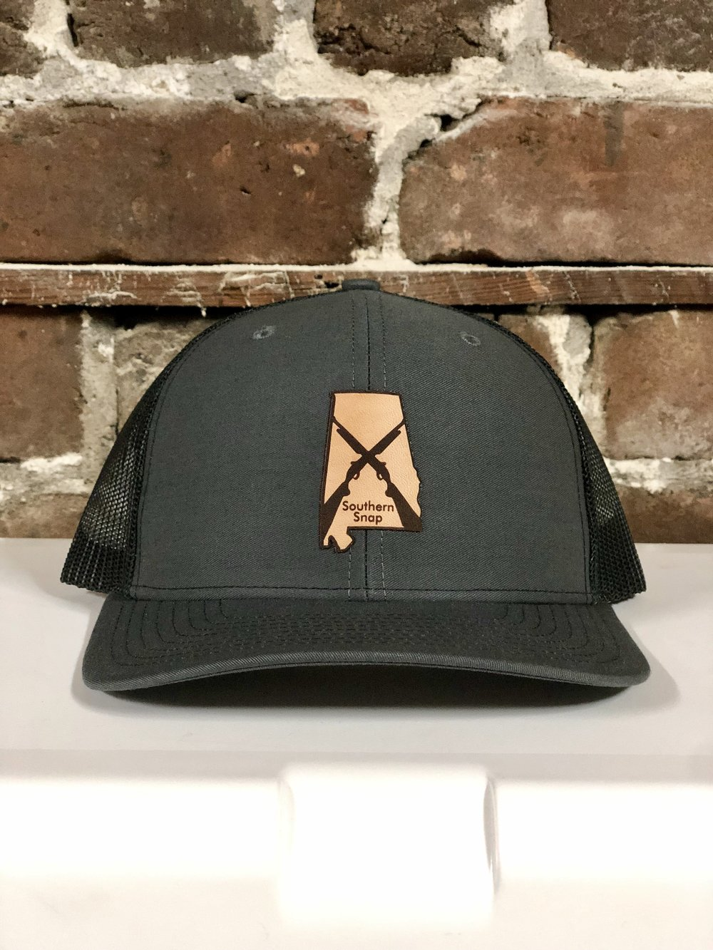 ... coupon code for alabama state leather patch trucker hat gray black  4a74f ddcd0 24ee319c34bc