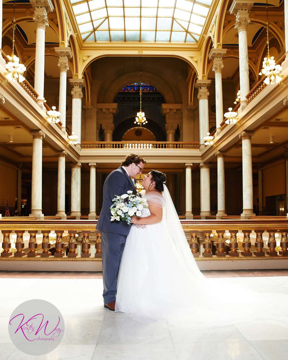 Kirsten Wray Photography Statehouse Wedding Indianapolis