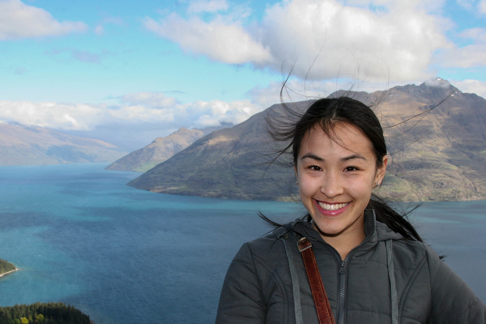 This is me on my very first day ever in Queenstown. You won't find a happier little Vegemite!
