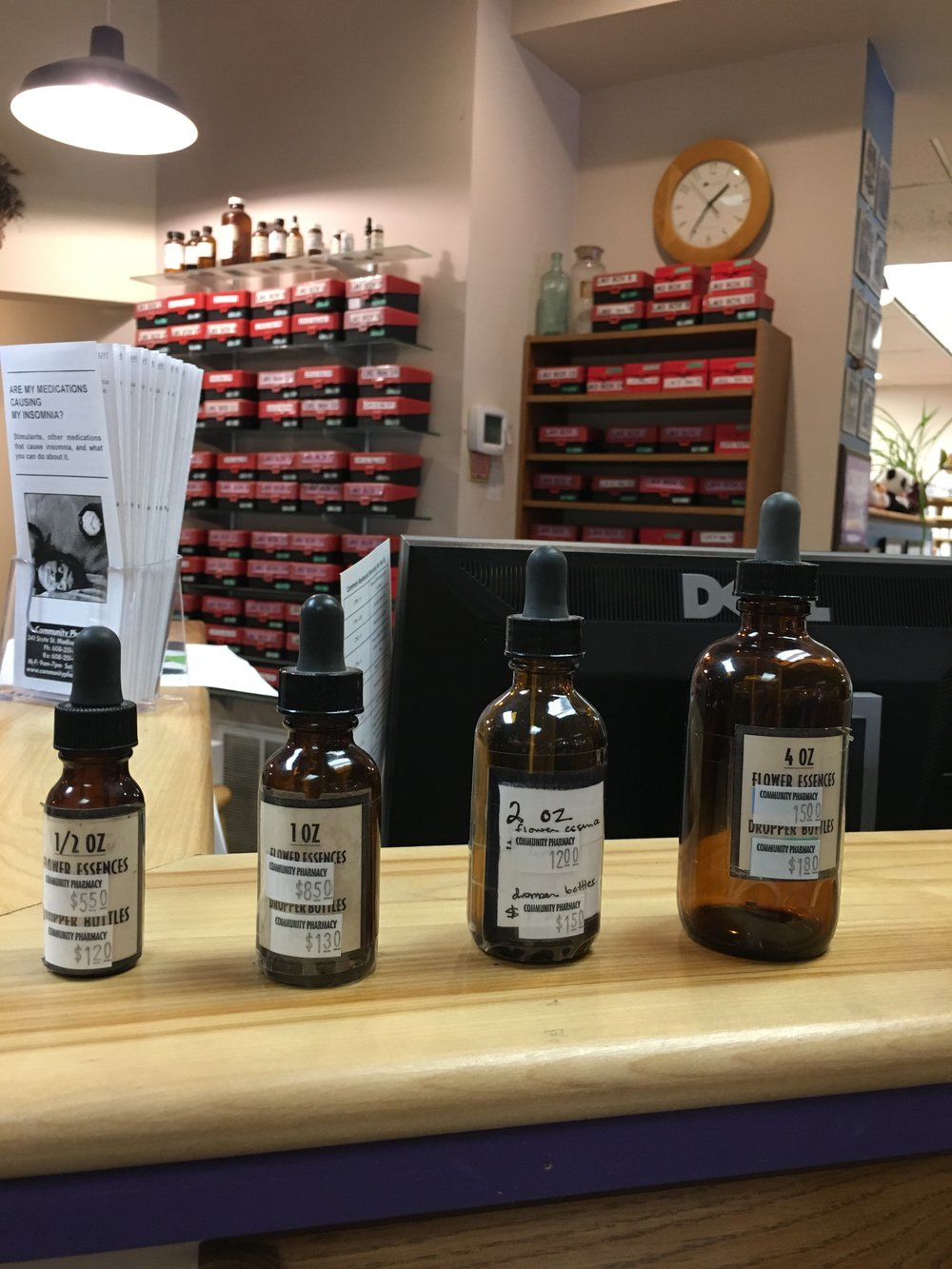Made a pit stop at the Community Pharmacy to see if it was true that they will custom make Flower Essence blends for folks. Stay tuned for this offering coming soon to Moon River's Healing Room!