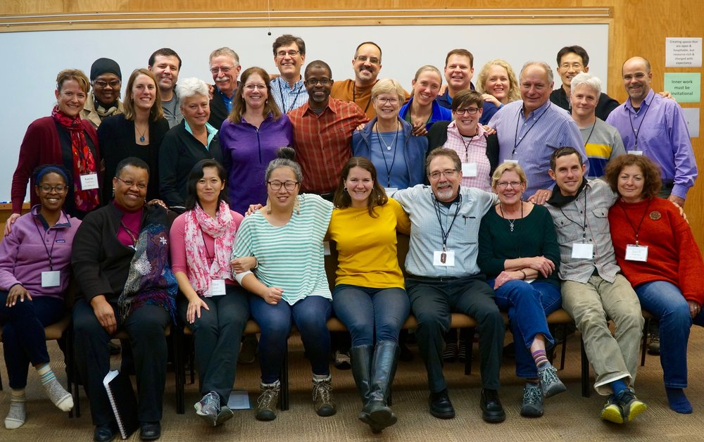 Retreat participants of Courage for Center & Renewal's Gateway Retreat, 2017 @ Bainbridge Island, WA.