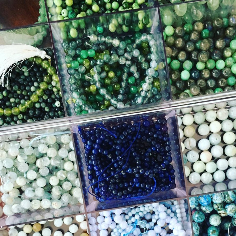 Our retreat will kick off with an intentional gemstone bracelet making session with Julia!