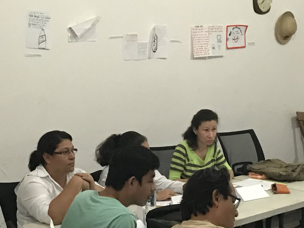 Gilia in English class. February 2017 at ITA Nicaragua