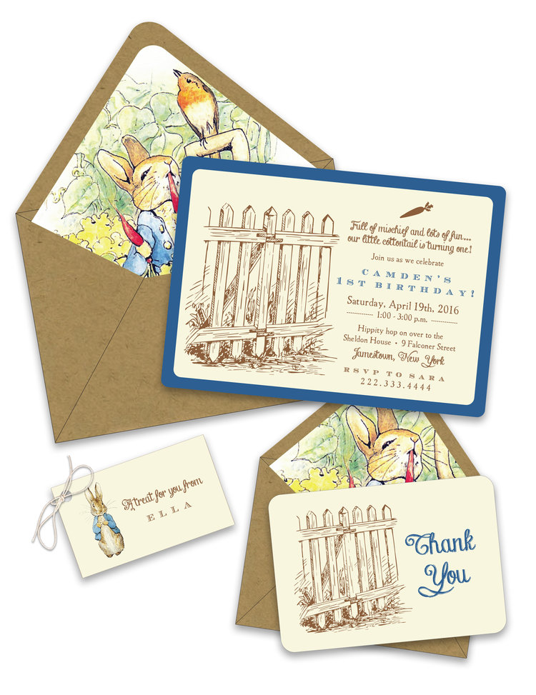 Peter Rabbit Birthday Invitation Suite Foreword Press Design