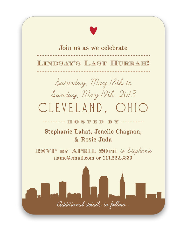 bachelorette weekend getaway a6 save the date foreword press design